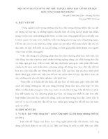 skkn MỘT SỐ VÍ DỤ GÂY HỨNG THÚ HỌC TẬP QUA PHẦN ĐẶT VẤN ĐỀ BÀI HỌC MÔN CÔNG NGHỆ PHỔ THÔNG