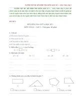 TUYỂN tập 59  đề KIỂM TRA GIỮA học kì i    môn toán lớp 2