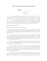 Diễn văn khai mạc Đại hội chi bộ