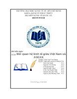 Mối quan hệ kinh tế giữa Việt Nam và ASEAN