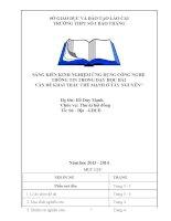 SKKN  ứng dụng CNTT trong dạy học bài vấn đề khai thác thế mạnh ở tây nguên
