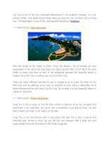 VUng tau is one of the very interested destinations in the southern vietnam