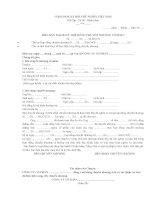 Bản thanh lý hợp đồng chuyển nhượng cổ phần