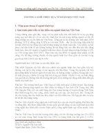 ĐỒ ÁN MÔN HỌC CÔNG NGHỆ SẢN XUẤT BÁNH KẸO Ở VIỆT NAM