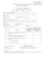 Mẫu số 01/THKH: Tờ khai thuế khoán dành cho hộ kinh doanh, cá nhân kinh doanh