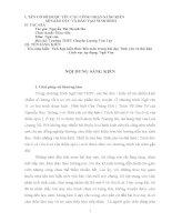 skkn tích hợp kiến thức liên môn trong bài dạy tình yêu và thù hận