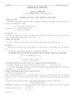 on thi lop 10 phan ly thuyết môn Lý 9