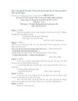 ĐỀ THI: MÔN VĂN TUYỂN SINH LỚP 10 TRUNG HỌC PHỔ THÔNG