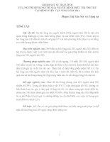 KHẢO SÁT SỰ HÀI LÒNG CỦA NGƯỜI BỆNH,NGƯỜI NHÀ NGƯỜI BỆNH ĐIỀU TRỊ NỘI TRÚ TẠI BỆNH VIỆN VẠN NINH NĂM 2011