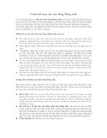 Cách viết đơn xin việc bằng Tiếng Anh