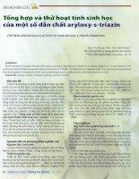 Tổng hợp và thử hoạt tính sinh học của một số dẫn chất aryloxy s triazin