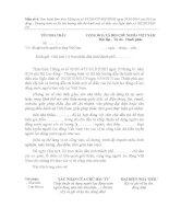 Đề nghị tuyển người lao động Việt Nam