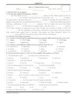 Đề kiểm tra học kỳ i tiếng anh lớp 8 chương trình mới (4)