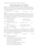 Đề thi thử THPT QG 2014 môn hóa có lời giải chi tiết chuyên vinh lần 4