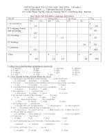 Đề kiểm tra học kỳ i tiếng anh lớp 8 chương trình mới (3)