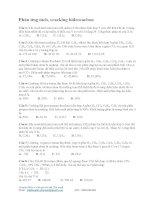 20 câu kèm lời giải Phản ứng tách, cracking hiđrocacbon