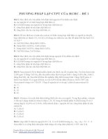 30 câu kèm lời giải Phương pháp lập CTPT của HCHC (đề 1)