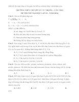 Đề thi thử THPT QG 2014 môn hóa có lời giải chi tiết chuyên lý tự trọng, cần thơ lần 2