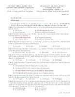 Đề thi thử THPT QG 2015 môn hóa có lời giải chi tiết THPT chuyên lê quý đôn đà nẵng lần 1