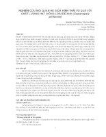 Nghiên cứu khoa học   NGHIÊN cứu mối QUAN hệ GIỮA HÌNH THÁI vỏ QUẢ với CHẤT LƯỢNG hạt GIỐNG LOÀI dẻ ANH (castanopsis piriformis)