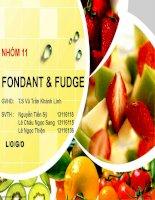 Bài thuyết trình fondant và fudge