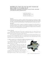Báo cáo nghiên cứu khoa học   NGHIÊN cứu THIẾT kế CHẾ tạo máy KHOAN BO MẠCH điện tử tự ĐỘNG KB 07