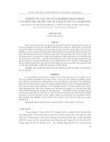 """Báo cáo nghiên cứu khoa học     NGHIÊN cứu các yếu tố LOẠI HÌNH cơ bản TRONG cấu TRÚC TIỂU THUYẾT """"THUNG LŨNG cô TAN"""" của lê PHƯƠNG"""