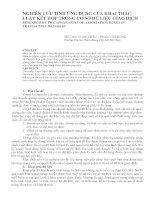 Báo cáo nghiên cứu khoa học   NGHIÊN cứu TÍNH ỨNG DỤNG của KHAI THÁC LUẬT kết hợp TRONG cơ sở dữ LIỆU GIAO DỊCH
