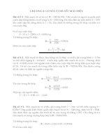 Bài tập máy điện chương 1,2 có lời giải