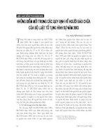 Báo cáo  những điểm mới trong các quy định về người bào chữa của bộ luật tố tụng hình sự năm 2003