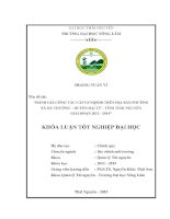 Đánh giá công tác cấp GCNQSDĐ trên địa bàn phường xã hà thượng – huyện đại từ   tỉnh thái nguyên giai đoạn 2011   2014