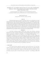 Báo cáo nghiên cứu khoa học     NGHIÊN cứu cải THIỆN TÍNH NĂNG của vật LIỆU COMPOSITE sợi ĐAY  NHỰA POLYPROPYLENE BẰNG PHƯƠNG PHÁP BIẾN TÍNH NHỰA nền