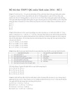 Đề thi thử THPT QG môn sinh năm 2016 có lời giải chi tiết đề 2
