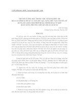 Báo cáo nghiên cứu khoa học      một số VƯỚNG mắc TRONG VIỆC áp DỤNG điều 230 bộ LUẬT HÌNH sự để xử lý tội CHẾ tạo, TÀNG TRỮ, vận CHUYỂN, sử DỤNG, MUA bán TRÁI PHÉP HOẶC CHIẾM đoạt vũ KHÍ QUÂN DỤNG, p