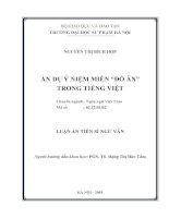 """Ẩn dụ ý niệm miền """"đồ ăn"""" trong tiếng Việt"""