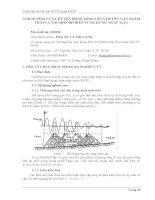 Tóm tắt báo cáo nghiên cứu khoa học    ẢNH HƯỞNG của CHUYỂN ĐỘNG SÓNG lên CHUYỂN vận TRẦM TÍCH và xói mòn bờ BIỂN VÙNG RỪNG NGẬP mặn