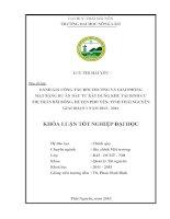 ĐÁNH GIÁ CÔNG tác bồi THƯỜNG và GIẢI PHÓNG mặt BẰNG dự án đầu tư xây DỰNG KHU tái ĐỊNH cư THỊ TRẤN bãi BÔNG, HUYỆN PHỔ yên, TỈNH THÁI NGUYÊN GIAI đoạn 1 năm 2013   2014