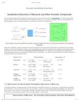 tương tác ion trong hóa học,cơ chế phản ứng của hydrocarbon thơm Ionic Reactions, aromatic reactivity