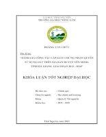Đánh giá công tác cấp giấy chứng nhận quyền sử dụng đất trên địa bàn huyện yên minh, tỉnh hà giang giai đoạn 2012   2014