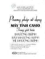 Phương pháp sử dụng máy tính Casio trong giải phương trình, bất phương trình  Đoàn Trí Dũng