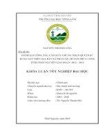 Đánh giá công tác cấp giấy chứng nhận quyền sử dụng đất trên địa bàn xã phấn mễ, huyện phú lương, tỉnh thái nguyên giai đoạn 2012   2014