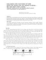 Báo cáo nghiên cứu khoa học   DAO ĐỘNG uốn của PHẦN tử dầm dưới tác DỤNG của tải TRỌNG DI ĐỘNG – mô HÌNH một KHỐI LƯỢNG