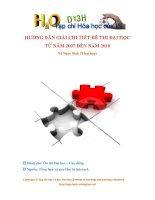 Giải chi tiết đề thi Hóa CD DH từ 2007 2010