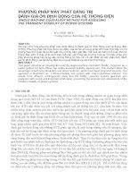 Báo cáo nghiên cứu khoa học   PHƯƠNG PHÁP máy PHÁT ĐẲNG TRỊ ĐÁNH GIÁ ổn ĐỊNH ĐỘNG của hệ THỐNG điện