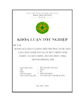 Đánh giá chất lượng môi trường nước mặt tại làng nghề sản xuất bún thôn Linh Chiểu, xã Sen Chiểu, huyện Phúc Thọ, thành phố Hà Nội