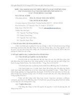 Tóm tắt báo cáo nghiên cứu khoa học    điều TRA KHẢO sát sự PHÂN bố của các CHỦNG nấm TRICHODERMA tại THÀNH PHỐ hồ CHÍ MINH và các TỈNH ĐÔNG NAM bộ