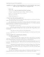 Tóm tắt báo cáo nghiên cứu khoa học   NGHIÊN cứu HOẠT TÍNH SINH học của cây THUỐC VIỆT NAM với các QUY TRÌNH THỬ NGHIỆM mới