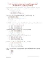 câu hỏi trắc nhiệm bài tập kế toán công đon vị hành chính sự nghiệp