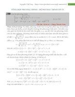 Tổng hợp phương trình hệ phương trình