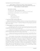 Tóm tắt báo cáo nghiên cứu khoa học   TỔNG hợp và KHẢO sát HOẠT TÍNH SINH học các hợp CHẤT PHỨC CURCUMIN  KIM LOẠI DÙNG làm mầu THỰC PHẨM và dược PHẨM